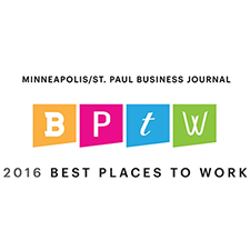 2016 Best place to work award Modus