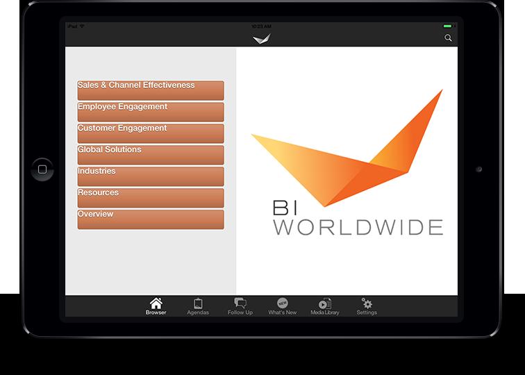 BI Worldwide iPad