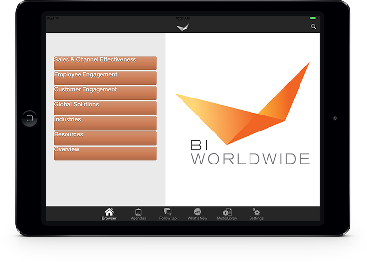 BI Worldwide iPad
