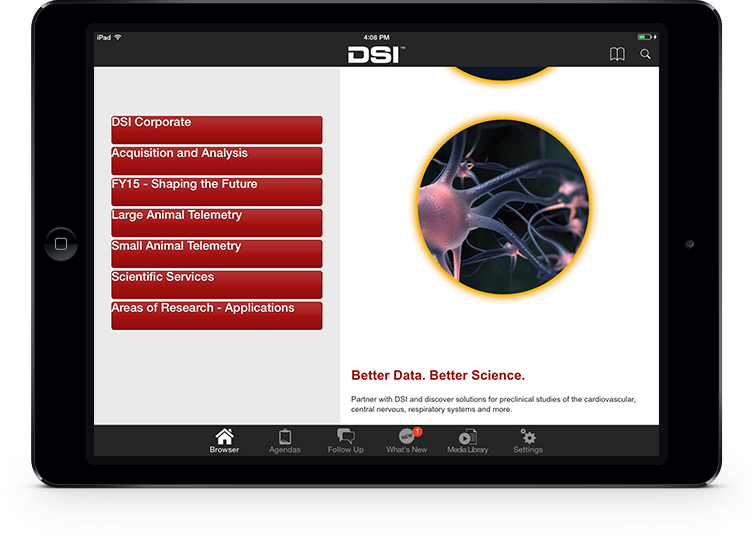 Data Sciences International iPad