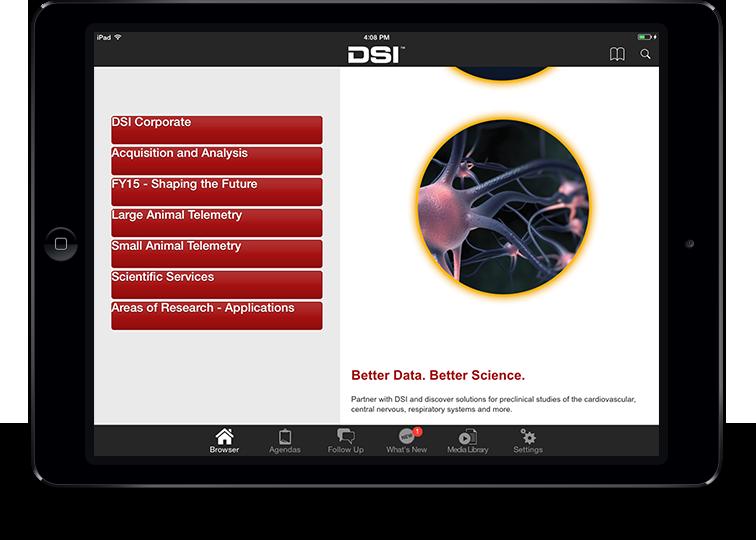 Data Sciences International iPad