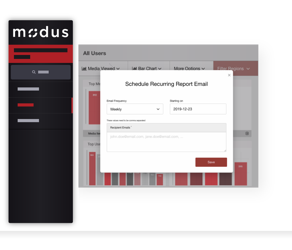 Modus - Report Scheduling