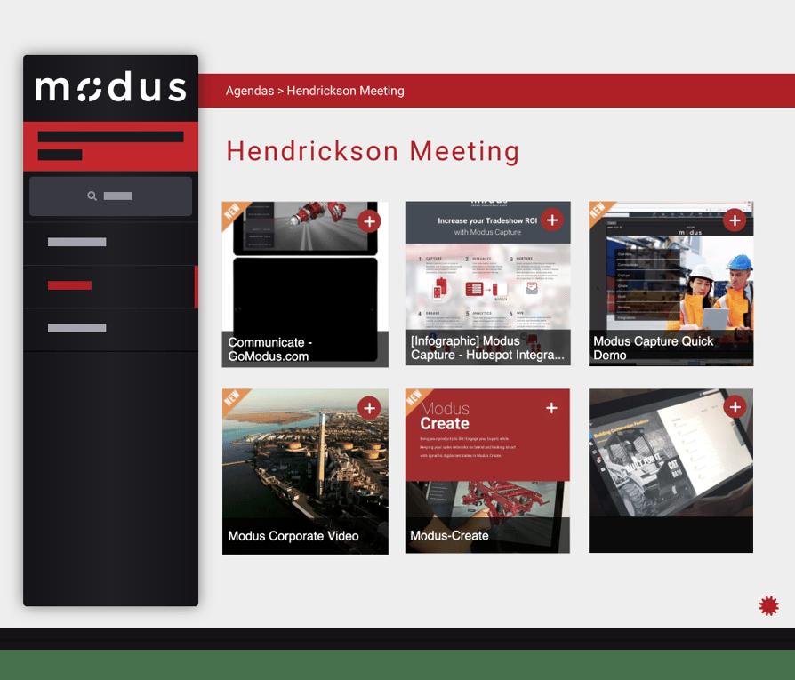 Modus Agenda Builder App