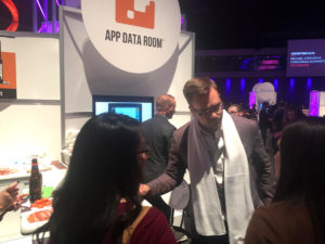 App Data Room Kiosk and Elliott Johnson at Inbound16