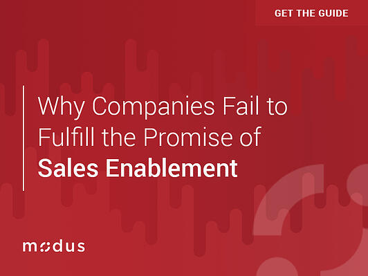 Why Companies Fail to Fulfill the Promise of Sales Enablement eBook Cover