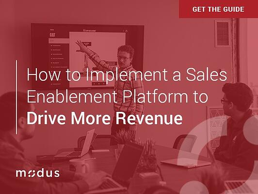 How to Implement a Sales Enablement Platform to Drive More Revenue eBook Cover