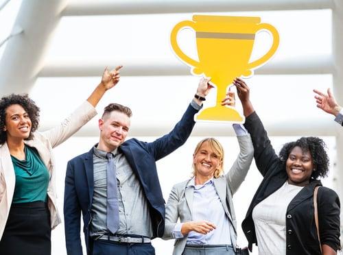 Team-winning-award-