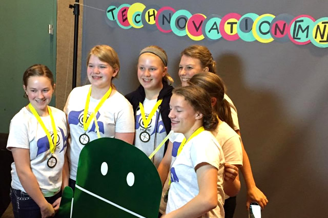 Girls build apps and compete at Technovation[MN]'s Appapalooza Event