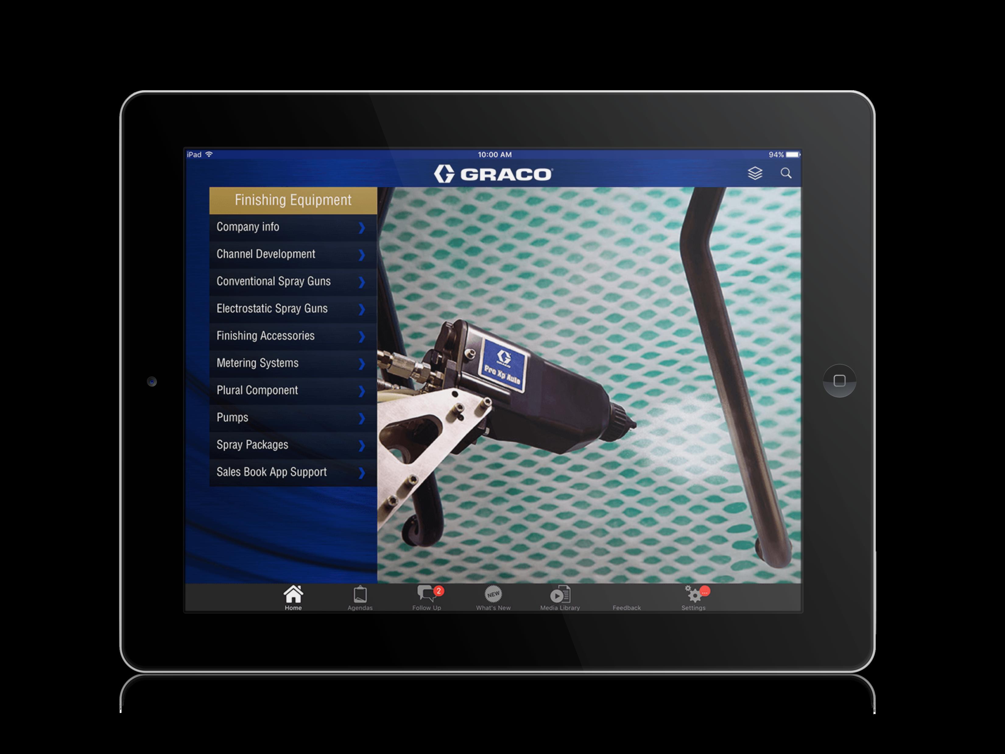 Graco SalesBook App ipad Mock