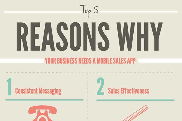 Top 5 Reasons Why You Need a Mobile Sales App [Infographic]
